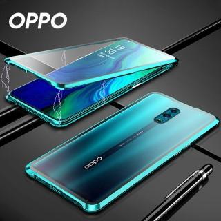 【韓式作風】OPPO RENO 2/RENO Z/RENO/RENO 10倍變焦版/R17/R15 萬磁王磁吸鋼化玻璃手機殼RCOPPO217(五色)