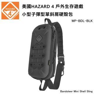 【Hazard 4】Bandoleer Mini Shell Sling 小型子彈型單斜肩硬殼包-黑色 WP-BDL-BLK(公司貨)