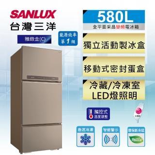 【SANLUX 台灣三洋】◆580公升一級能效變頻三門冰箱(SR-C580CV1A)