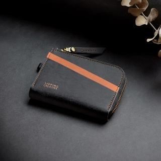 【俬品創意】L型零錢包_咖啡黑(RFID防盜刷.雙面感應免取卡)