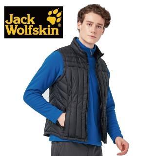 【Jack wolfskin 飛狼】男 羽絨背心(黑色)