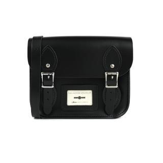 【The Leather Satchel Co.】8.5吋 英國手工牛皮劍橋包 肩背包(火炭黑)