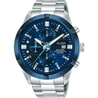 【ALBA】雅柏 原創計時手錶-44mm(VD57-X174B  AM3753X1)