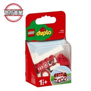 【LEGO 樂高】得寶幼兒系列 消防車 10917 學齡前 車子(10917)