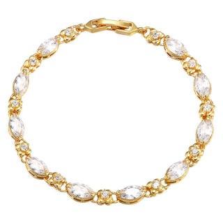 【Jpqueen】天使之眼炫麗寶石水鑽金繽細手鍊(4色可選)