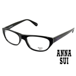 【ANNA SUI 安娜蘇】ANNA SUI 安娜蘇 經典質感黑色光學框(AS508001)