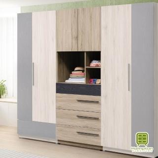 【Hampton 漢汀堡】諾頓2.5尺四抽衣櫥(一般地區免運費/雙人沙發/附贈抱枕)