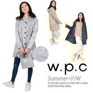 【w.p.c】星星釦子款。時尚雨衣/風衣 R1032(3色任選)
