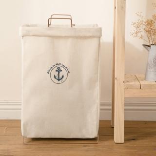 【悅生活】百特兔 帆布摺疊置物洗衣籃(置物 收納 多功能 收納摺疊 手提)