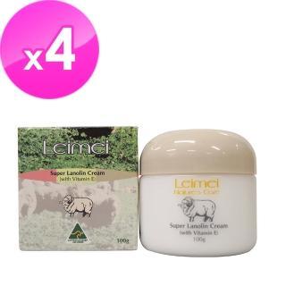 【澳洲Natures Care】Leimei 超滋潤綿羊霜含維他命E(4入組100g/罐)