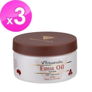 【澳洲Natures Care】VitAustralia 鴯苗鳥油滋潤霜含維他命E(3入組 250g/罐)