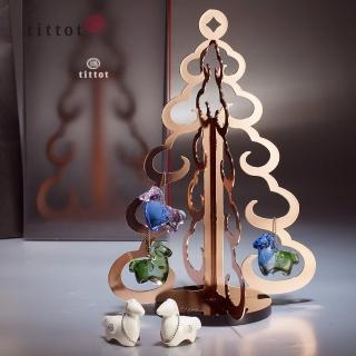 【tittot 琉園】樹起希望_祝福_福氣(送禮/琉璃/禮物/玻璃/水晶/聖誕禮品/禮贈/聖誕樹/冬季)