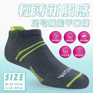 【DR.WOW】MIT吸排透氣足弓機能隱形襪(女款)