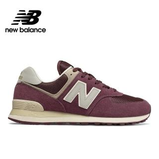 【NEW BALANCE】NB 復古休閒鞋_男鞋_酒紅_ML574VLB-D楦 運動 休閒 潮流 時尚