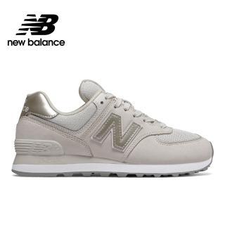 【NEW BALANCE】NB 復古鞋_女性_淺灰_WL574WNO-B楦 運動 休閒 潮流 時尚