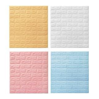 3D立體加厚防撞經典復古紅磚牆貼-6片(經典紅磚牆設計)
