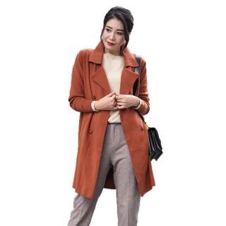 【水衫】羊毛材質針織長版套裝二件組(H09-09)