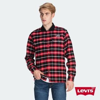 【LEVIS】男款 法藍絨格紋襯衫 / CNY限量系列 / Thermolite保暖科技 / 刺繡Logo