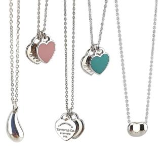 【Tiffany&Co. 蒂芙尼】經典925純銀墜飾項鍊(五款任選)
