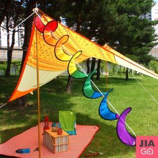 【JIAGO】露營七彩風條
