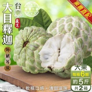 【果農直送】台東巨無霸大目釋迦(原箱7-9顆/約10斤)