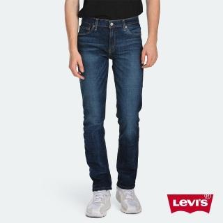 【LEVIS】男款 511低腰修身窄管牛仔褲 / 深藍刷白 / 彈性布料