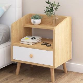 【生活藏室】木腳床頭櫃-一抽櫃(床頭櫃 一抽櫃 置物櫃)