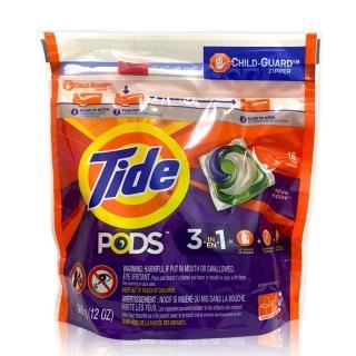 【美國 Tide】洗衣膠囊-16入(春天草地清香)