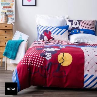 【HOLA】復古米奇純棉西寢床被組 單人
