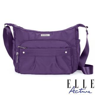 【ELLE active】知性優雅系列-側背包/斜背包-中-紫色