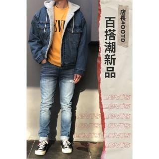 【LEVIS】男款  連帽牛仔外套 / Oversize寬鬆版型 / Sherpa棉花絨