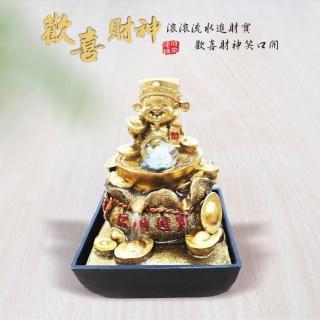 【KINYO】歡喜財神-流水飾品(GAR-9001)