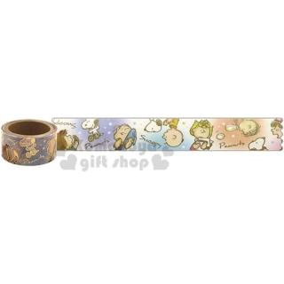 〔小禮堂〕史努比 日製燙金紙膠帶《藍白.雪地》400x2cm.裝飾貼.黏貼用品