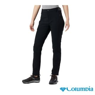 【Columbia 哥倫比亞】女款-Omni-SHIELD 防曬50防潑長褲-黑色(UAL23210BK / 防潑.防曬.休閒)