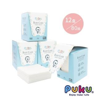 【PUKU 藍色企鵝】乾濕兩用紙巾-加厚升級(80片*12盒)