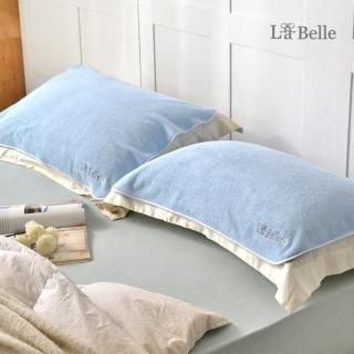 【La Belle】買一送一 經典刺繡舒柔枕巾(多款任選)