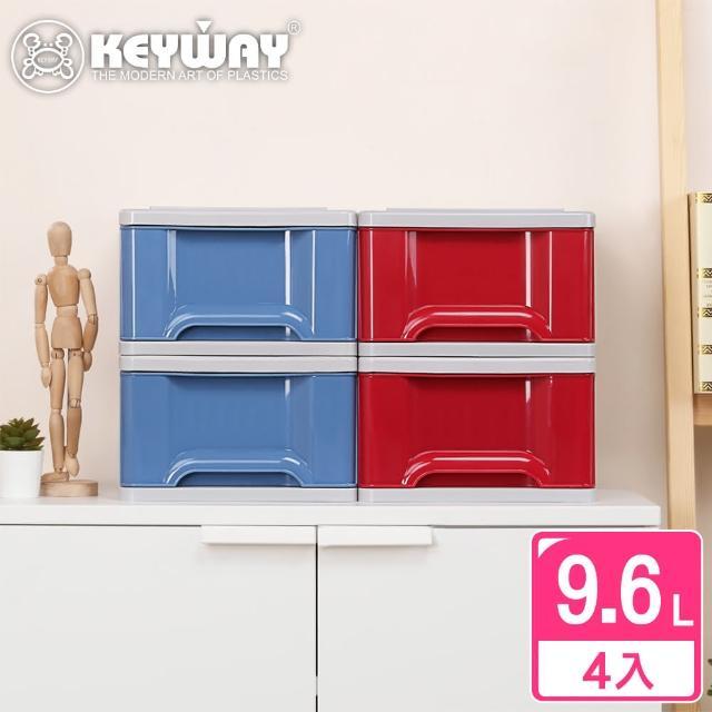 【KEYWAY】面寬28-德爾芬抽屜整理箱-4入