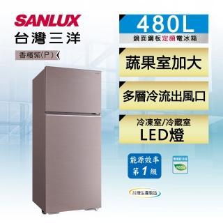 【SANLUX 台灣三洋】480公升一級能效雙門定頻冰箱(SR-C480B1B)