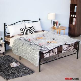 【RICHOME】法蘭工業風5尺雙人床/鐵床/床架(經典設計)