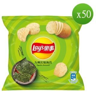 【Lay's 樂事】九州岩燒海苔味洋芋片12g/50包