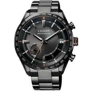 【CITIZEN 星辰】代言人廣告款 光動能GPS衛星對時萬年曆鈦金男錶-43.5mm(CC3085-51E)