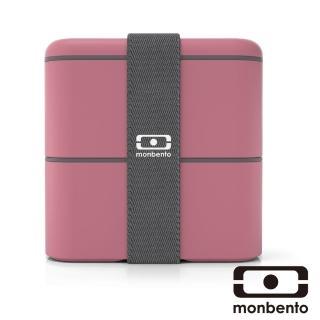 【MONBENTO】原創方型便當盒-玫瑰豆沙色(MB-120003126)
