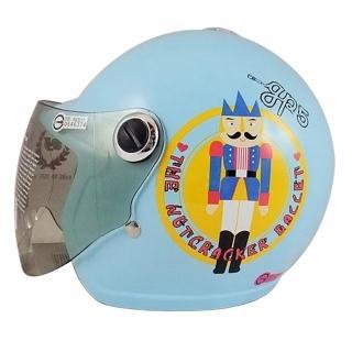 【S-MAO】正版卡通授權 娃娃兵 兒童安全帽 3/4半罩 附鏡片(安全帽│機車│鏡片│胡桃鉗│GOGORO T1)