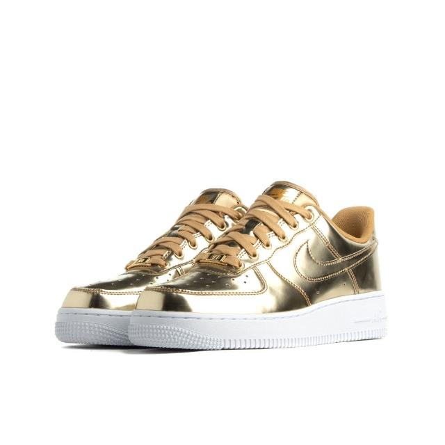 【NIKE 耐吉】W AIR FORCE 1 SP METALLIC GOLD 金色 女鞋 低筒(CQ6566-700)