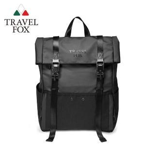 【TRAVEL FOX 旅狐】黑潮美學防潑水後背包(TB801-01 黑色)