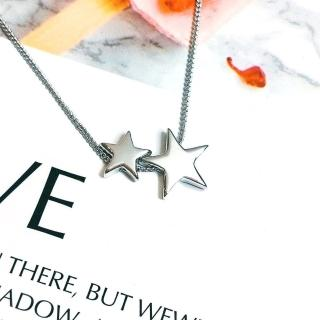 【DoriAN】手作純銀 經典3D星空大小星星925純銀項鍊(附精美包裝組合 純銀保證卡)