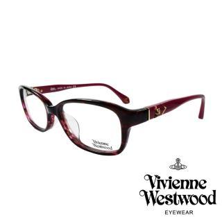 【Vivienne Westwood】簡約時尚金屬浮雕土星光學眼鏡(紅琥珀 VW315_03)
