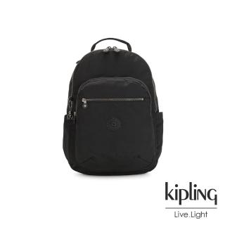 【KIPLING】極致低調黑機能手提後背包-SEOUL