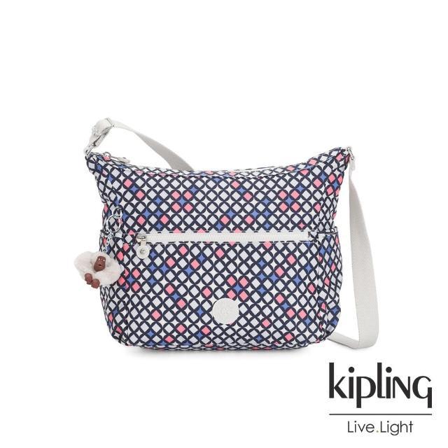 【KIPLING】華麗閃耀繽紛簡約大容量斜背包-ALENYA/