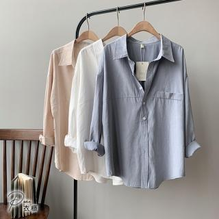 【Pure 衣櫃】日韓無印風休閒襯衫(3色/M-L/素面/日雜/百搭/隨性/PCT005)